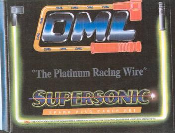 OML THE PLATINUM RACING WIRE SUPERSONIC SPARK PLUG CABLE SET Oml Spark Plug Wires on